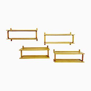 Vintage Wall Shelves by Alvar Aalto, Set of 4