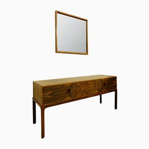 Mid-Century Console Table and Mirror Set by Kai Kristiansen for Aksel Kjersgaard