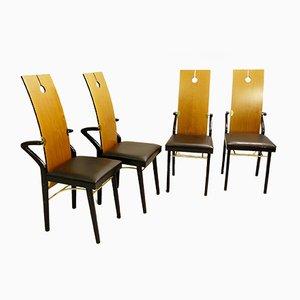 Mesa de comedor y cuatro sillas de Pierre Cardin, 1974