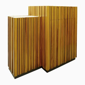 Double-Sided Maple Slatted Cabinet, 1960s
