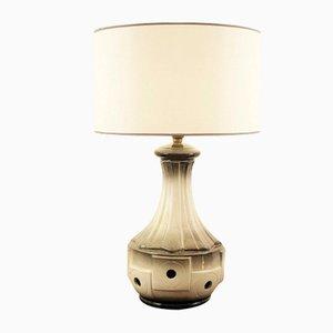 Vintage Tischlampe aus getöpferter Keramik