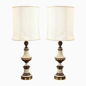 Tischlampen aus vergoldeter Bronze, 1960er, 2er Set