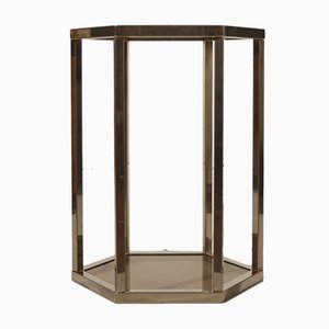 Brass Hexagonal Pedestal by Pierre Vandel, 1970s