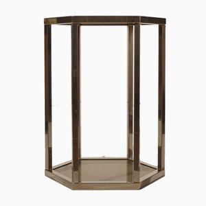 Sechseckiger Tisch aus Messing von Pierre Vandel, 1970er