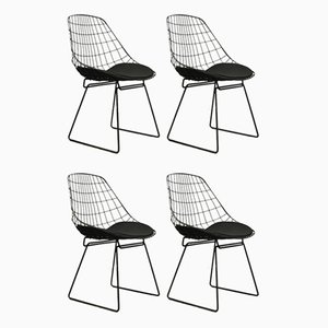 Vintage SM05 Wire Chairs by Cees Braakman for Pastoe, 1960s, Set of 4