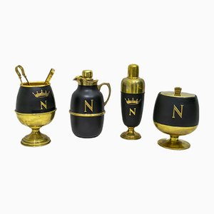 Mid-Century Italian Brass Cocktail Set by Aldo Tura for Cusano Milanino Standard, 1960s