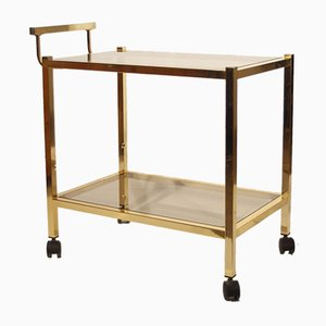Brass & Smoked Glass Bar Trolley by Pierre Vandel, 1970s