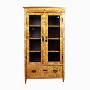 Antique Two-Door Birch Cabinet
