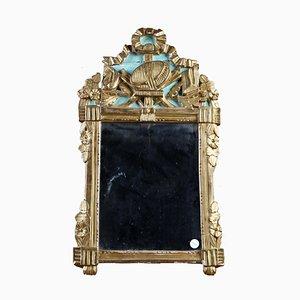Miroir Antique Sculpté, Doré et Laqué