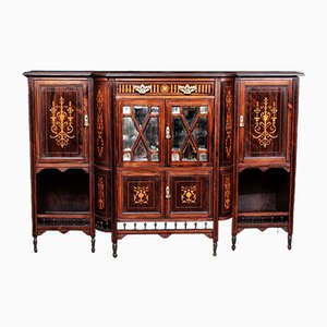 Antique English Rosewood 4-Door Sideboard