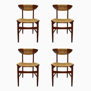 Schwedische Esszimmerstühle, 1960er, 4er Set