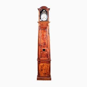 Antike provenzialische Uhr aus Kirschholz & Ulmenwurzelholz