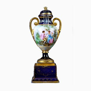 Petit Vase en Porcelaine avec Couvercle
