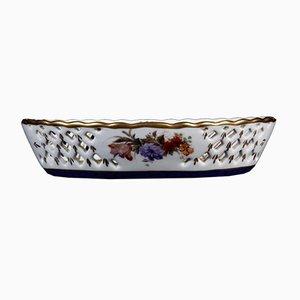 Centro de mesa Basket antigua de porcelana blanca de French Sevres Manufacture