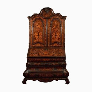 Antique Inlaid Walnut Cabinet