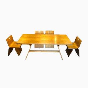 Esszimmerstühle & Tisch aus Eschen- & Schichtholz von Gigi Sabadin für Stilwood, 1970er