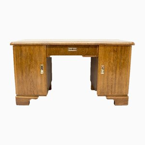 Antique German Art Nouveau Oak Desk, 1900s