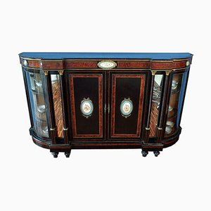 Antique Ebony and Burr Sideboard