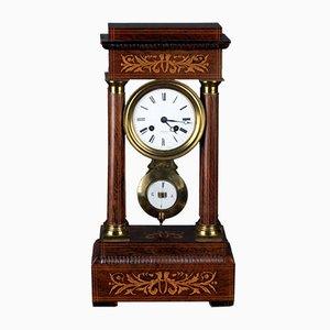 Reloj Charles X antiguo de palisandro