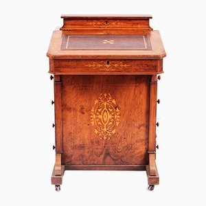 Antique Davenport Walnut Secretaire