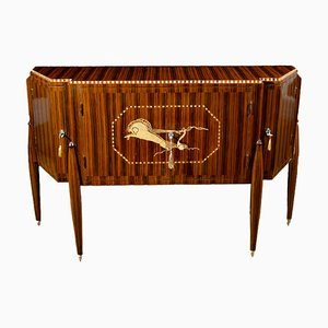 French Art Deco Rosewood Sideboard, 1930s