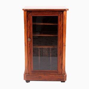 Antique Walnut Showcase Cabinet
