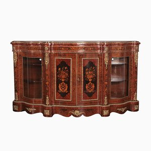 Antique Dutch Walnut 4-Door Credenza