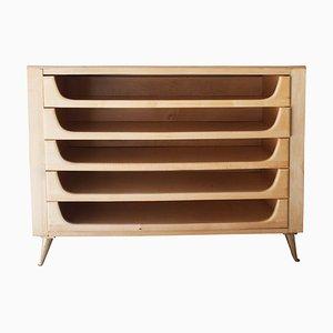 Mid-Century Modern Italian Birch & Brass Cabinet, 1960s