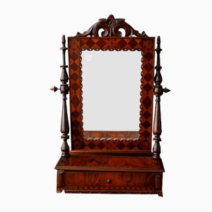 Antique Pivoting Mirror