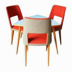 Esstisch mit Stühlen für Kinder aus Resopal, 1960er