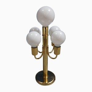 Lámpara de pie Hollywood Regency Mid-Century dorada, años 60