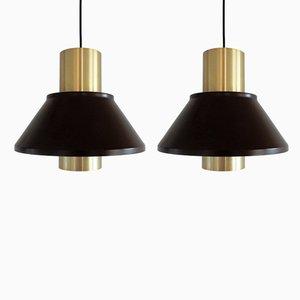 Lámparas colgantes Life vintage de Johannes Hammerborg para Fog & Mørup, años 70. Juego de 2