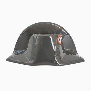 Cenicero francés Napoleon Hat vintage de cerámica de Proceram, años 60