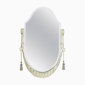 Art Deco Silver and Gilded Wood Mirror, 1930s