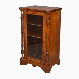 Antiker viktorianischer Musikschrank aus Nussholz