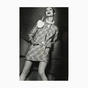 Französisches Poster einer lachenden Frau von Robert Jean Chapuis, 1960er