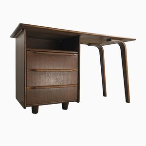 Mid-Century Oak EE02 Writing Desk by Cees Braakman for Pastoe, 1950s