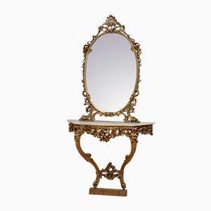 Table Console et Miroir Antiques
