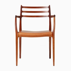 Mahogany and Leather Model 62 Armchair by Niels Otto Møller for J.L. Møllers, 1960s