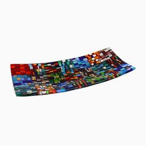 Assiette Fontego R30 en Verre de Murano Multicolore par Stefano Birello pour Vévé Glass