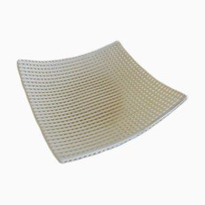 Elfenbeinfarbene Q20 Schale aus Muranoglas von Stefano Birello für Vévé Glass
