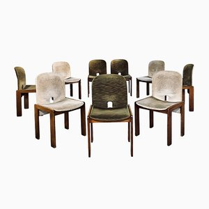 Model 121 Velvet Dining Chairs by Tobia & Afra Scarpa for Cassina, 1960s, Set of 15