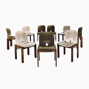 Sedie da pranzo nr. 121 in velluto di Tobia & Afra Scarpa per Cassina, anni '60, set di 15