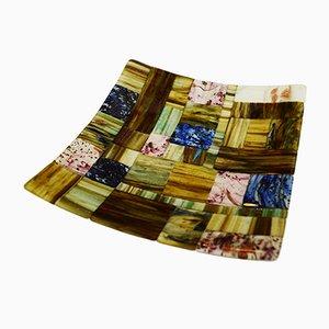 Avalon Aventurin Q25 Gonfalone Schale aus Muranoglas von Stefano Birello für VéVé Glas