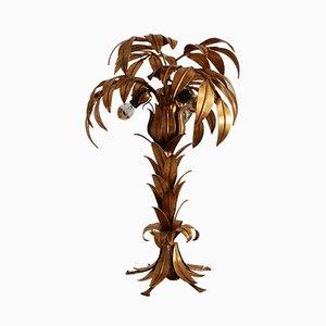 Lámpara de mesa vintage en forma de palmera dorada de Hans Kögl, años 70