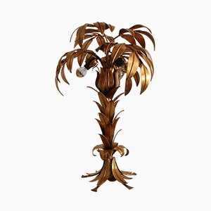 Vintage Gold Palm Table Lamp by Hans Kögl, 1970s