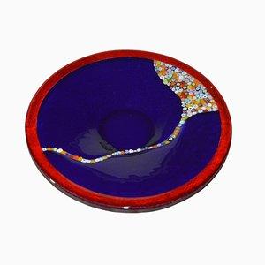 Centre de Table Cascata T30 en Verre de Murano Bleu Cobalt par Birello pour Vévé Glass