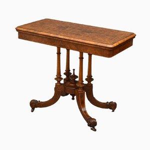 Tavolo da gioco antico vittoriano