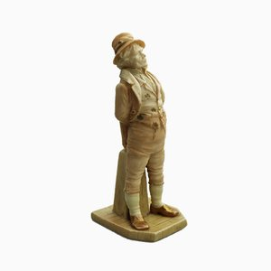 Antike englische The Irishman Porzellanfigur von James Hadley für Royal Worcester