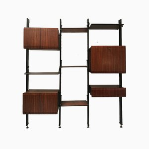 Italian Rosewood Wall Unit by Luciano Frigerio for Frigerio Desio, 1960s